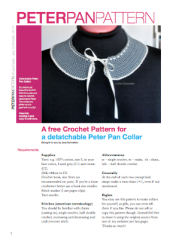 pattern for a detachable peter pan crochet collar