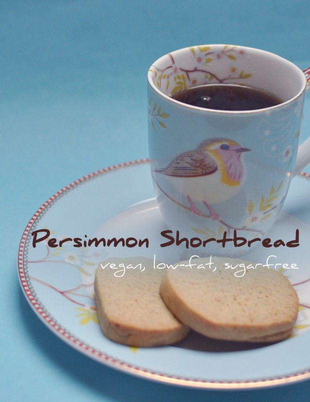 Persimmon Shortbread, vegan, low-fat, sugarfree